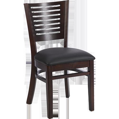 emma mit polster schwarz restaurantstuhl restaurantst hle kneipenstuhl holzstuhl ebay. Black Bedroom Furniture Sets. Home Design Ideas
